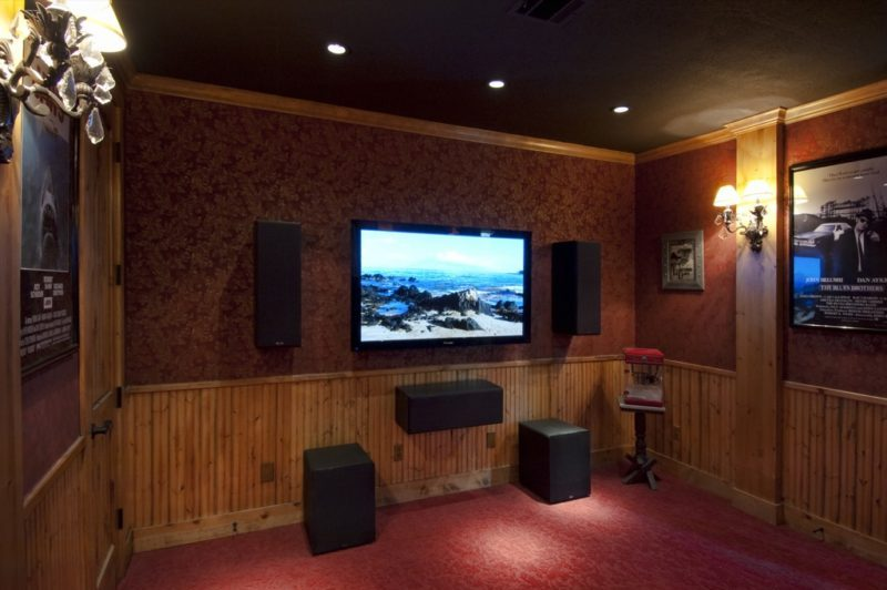 Custom home entertainment space