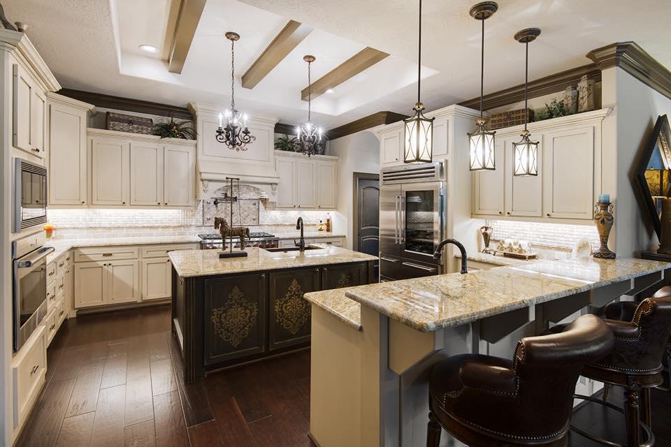 inside kitchen houston custom home