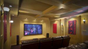 Custom home media room